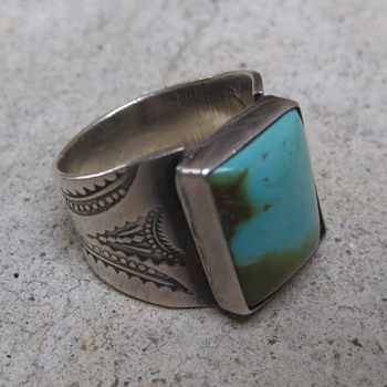 Men's turquoise ring - Fine Jewelry