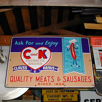 C AND K QUALITY MEAT AND SAUSAGE SIGN