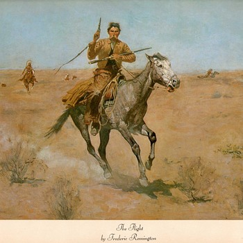 "Frederic Remington print - ""The Flight"" - Fine Art"