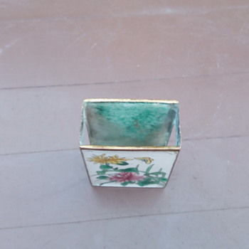 My enamel match box Holder - Asian