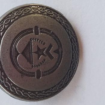 Help Identify Button - Star, Chevron, Pyramid  Pewter  - Art Deco