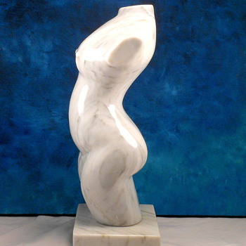 Marble Sculpture of Nude Woman Pregnant -  Unsigned Thrift Store Find