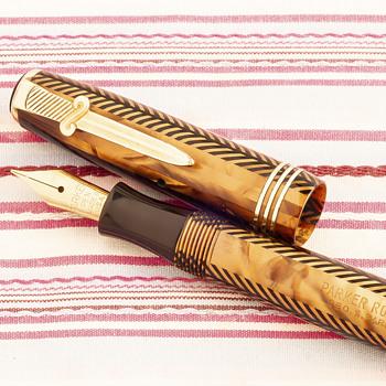 Vintage Parker Royal Challenger fountain pen with sword pocket clip - Pens