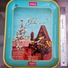 "Servez ""COCA COLA"" Metal Serving Tray featuring Vintage Bird House"