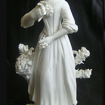 Antique CROWN DERBY Bisque Figurine Chelsea Seaons Circa 1770  - Figurines
