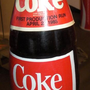 1985 First Production Run New Taste Coke 300ml bottle