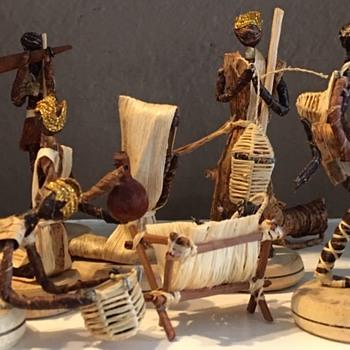 (Banana Fiber) African Harambee Nativity Scene - Christmas