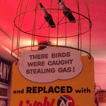Gas station memorabilia  - Advertising