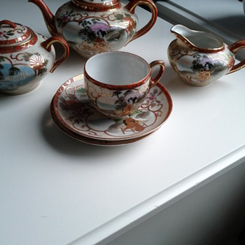 Asian tea set -bits and pieces with trademark