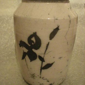 Japanese pottery vase - Asian