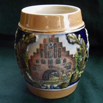 Vintage Beer Stein Mug from Flensburg, Germany - Breweriana