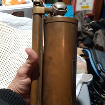 old wilbur hand pump fire extinguisher  - Firefighting
