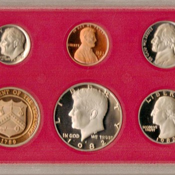 1982 S - U.S. Proof Coins Set - US Coins