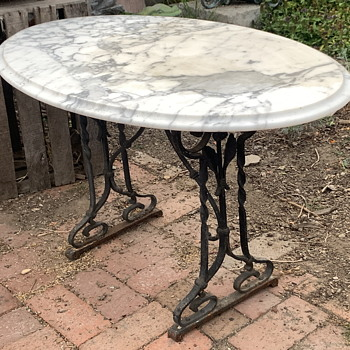 Marble Top Garden Table - Furniture