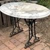 Marble Top Garden Table