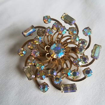 "Vintage PRETTY sparkly ""Pinwheel"" pin from Grandmother"