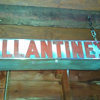 Old Ballantine's Metal Neon Sign - Breweriana