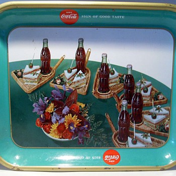 1957 Coca Cola Tray ( Canadian ) Sandwich - Coca-Cola