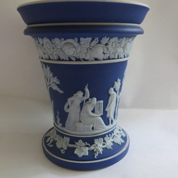 Antique Wedgwood Jasperware Cobalt Blue Vase