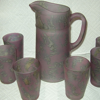 French Pitcher with Glasses - Glassware