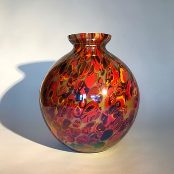 Kralik Iris millefiori ball vase - Art Glass
