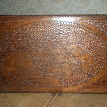 Art Deco military wooden box. - Art Deco