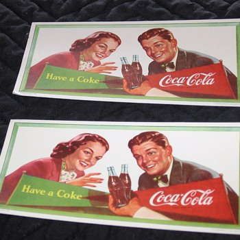 Canadian Coca-Cola Ink Blotters - Advertising
