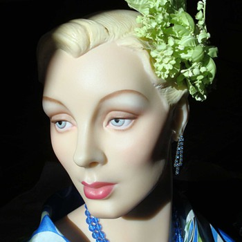 1950s Chartreuse Fascinator