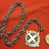 INTEGRITY UBI CARITAS ET AMOR pendant/medal on chain