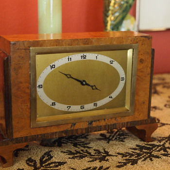 Strange Little German Mantle Award Clock 1930 - Clocks