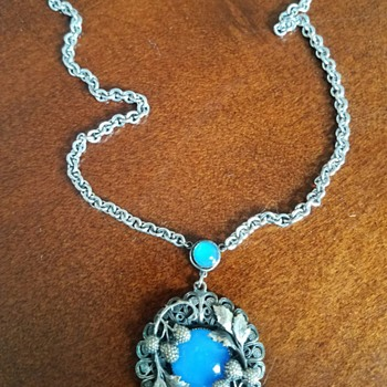 Thistle & Berry Blue Moonstone Necklace - Costume Jewelry