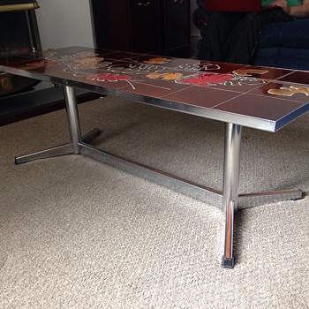 Tile topped table  - Furniture
