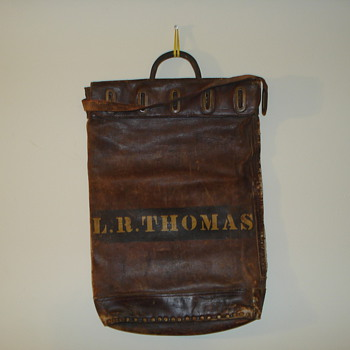Santa Fe railroad bag - Railroadiana