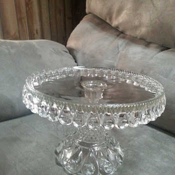 Antique/vintage glass cake stand - Kitchen