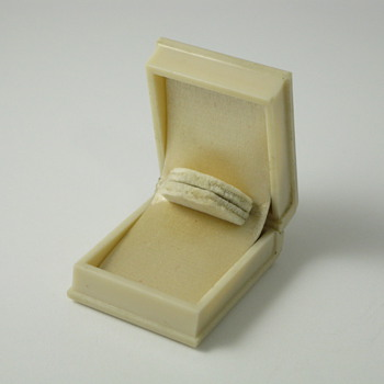 ivory book ring box with no logo - Fine Jewelry