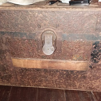 galvanized metal trunk antique steamer trunks and chests collectors weekly