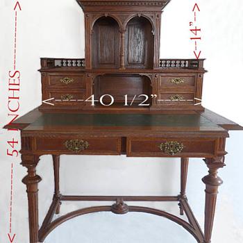 Old desk German Revival? jugenstil? or ?
