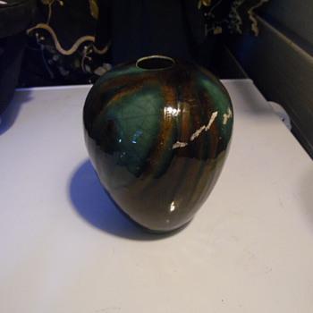 Old Pottery Vase  Signed - Pottery
