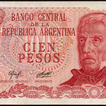 Argentina - (100) Pesos Bank Note