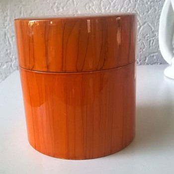 Yamanaka Japan Lacquerware Tea Caddy Thrift Shop Find 1 Euro ($1.12) - Asian