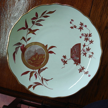 Aesthetic Bishop & Stonier wonderful plate december 1880 - China and Dinnerware