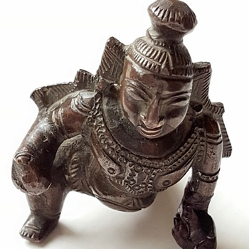 Small vintage/antique Balakrishna bronze, kyratised. - Asian