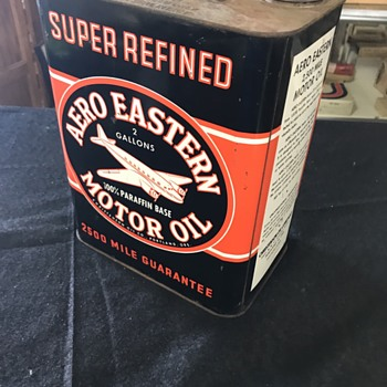 Aero Eastern oil can and Dx oil cans  - Petroliana