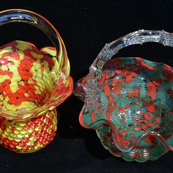 Baskets of color - Czechoslovakia - Art Glass
