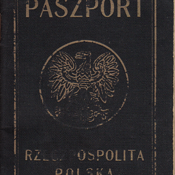 Polish Opera Star 1949 Passport - Paper