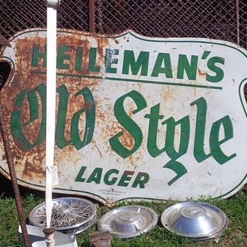 Old Style metal sign - Breweriana