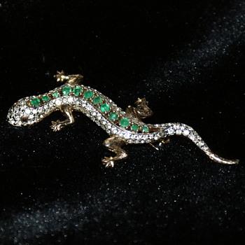Panetta Rhinestone Lizard - Costume Jewelry
