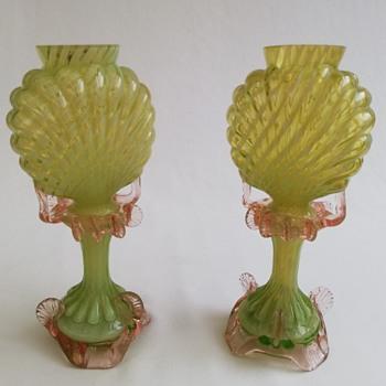 Two Welz Life Lights - Art Glass
