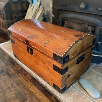 English Antique Trunk - Furniture