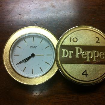 Dr Pepper Seiko Clock - Advertising
